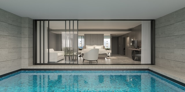 vnútorný bazén zo spálne